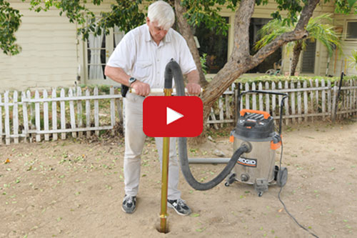 Fence post digger video