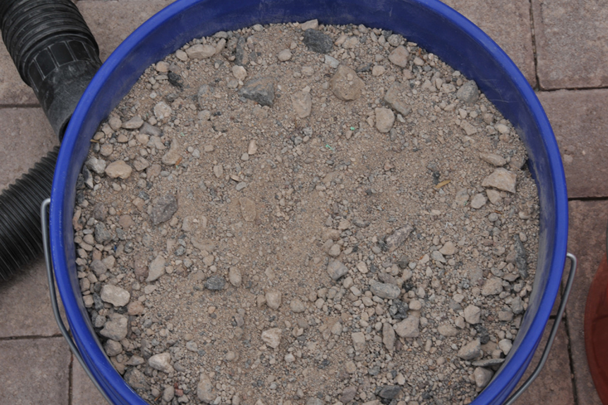 Mixed Gravel, Sand, and Fine Dirt